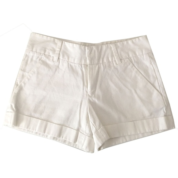 French Connection Pants - FRENCH CONNECTION White Summer Cotton Shorts